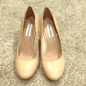 Steve Madden nude shoes. Worn once